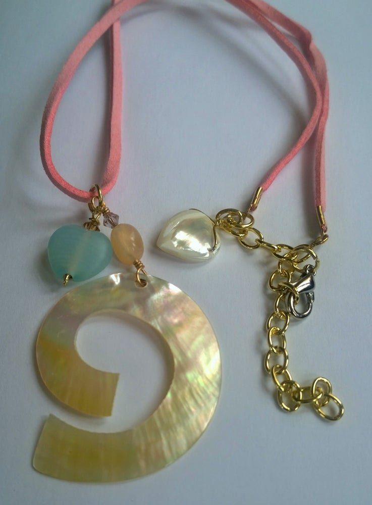 Image of Pretty in Pink Shell Necklace