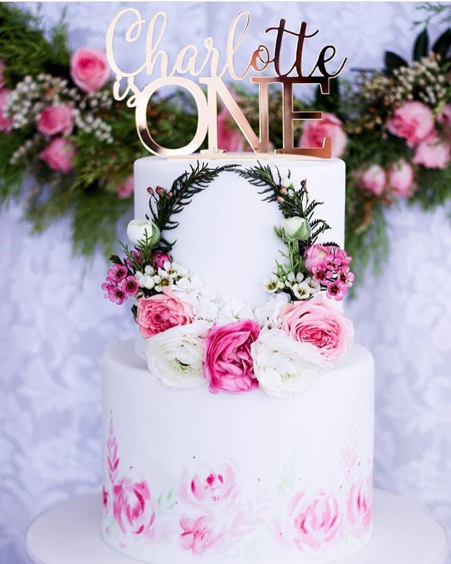 Image of Custom Name & Capital Age Cake Topper