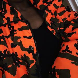 Image of Limited 'Denver' Unisex Hoodless Camo Parka in Orange