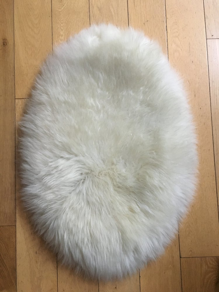 Image of W&W Cream oval seat pad or smaller pet bed