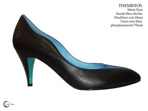 Image of THEMISTOS Noir Bleu - Black Blue