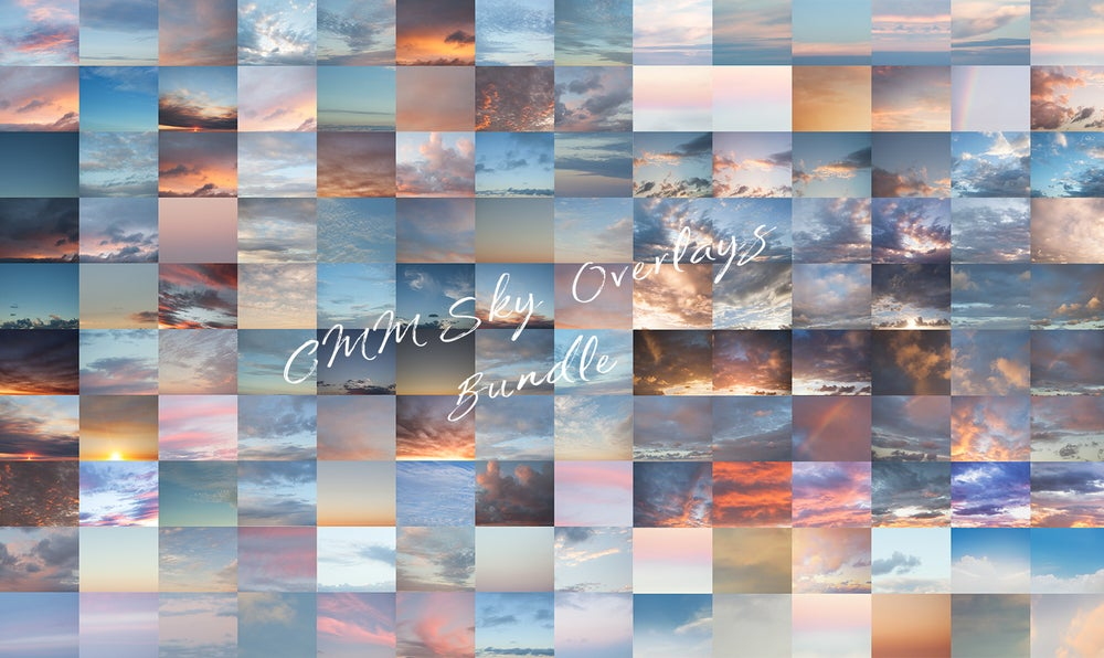 Image of Sky Overlay Bundle - Set 1 & 2 - 140 Skies in Total