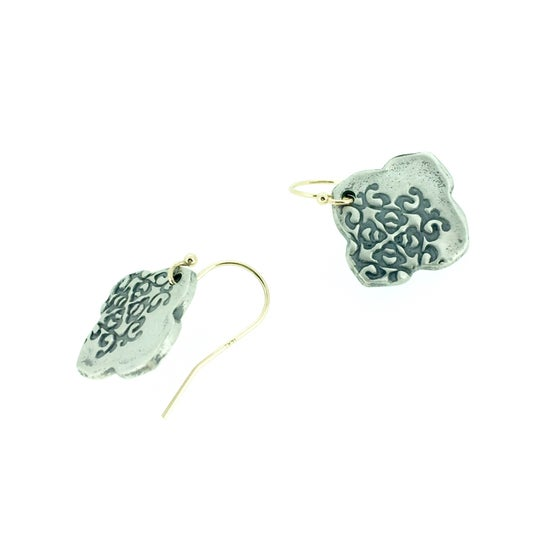 Image of flora medallion earrings