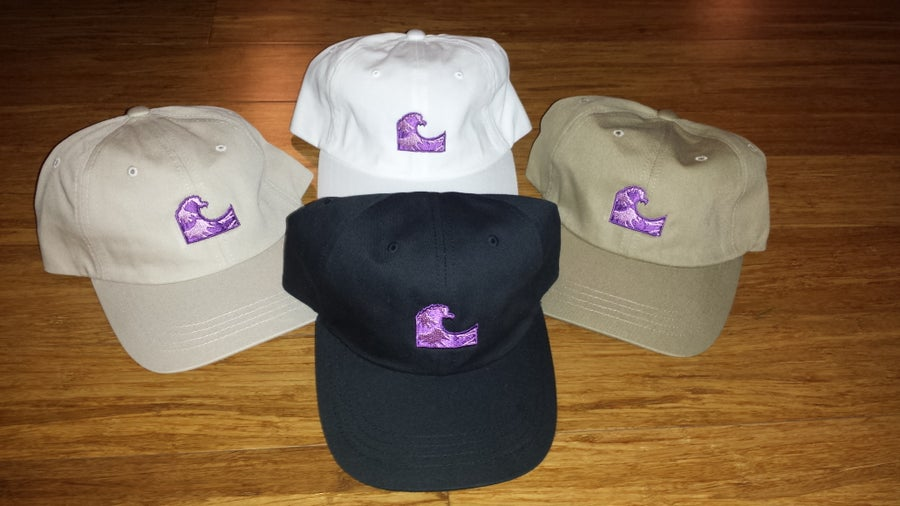 "Image of Siplean ""Purple Wave"" Strapback Dad Hat"