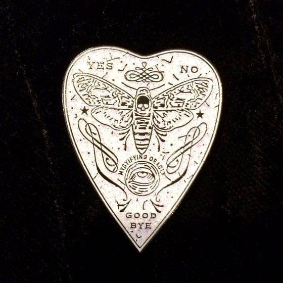 Image of Mystifying Oracle Planchette Enamel Pin ~ Unicorn Blood Variant!