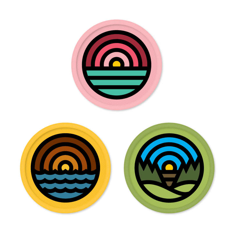 Image of Draplin - 3 Patches Pack