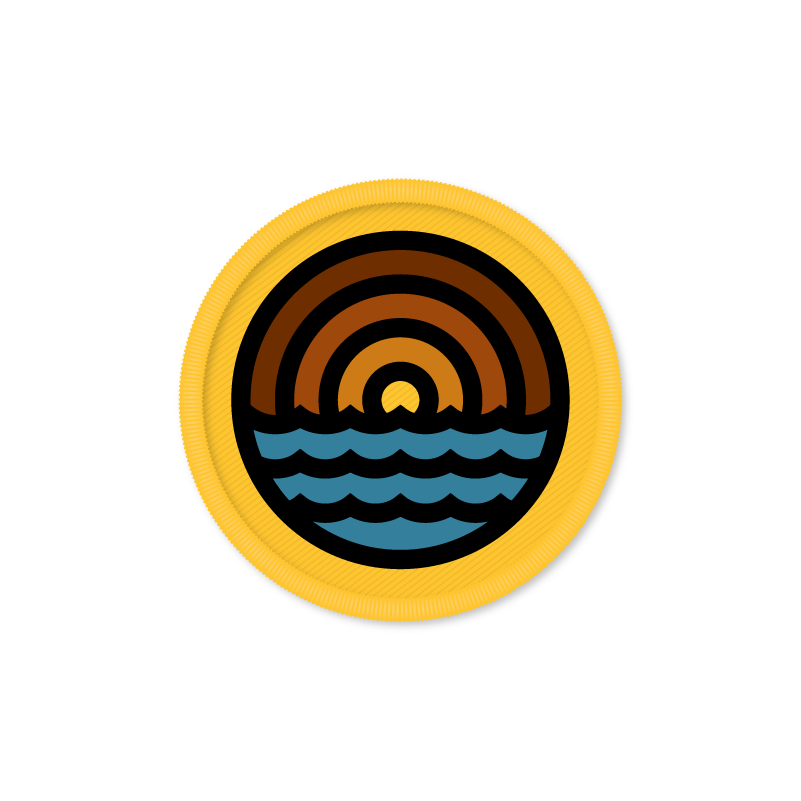 Image of Draplin - Waves Patch