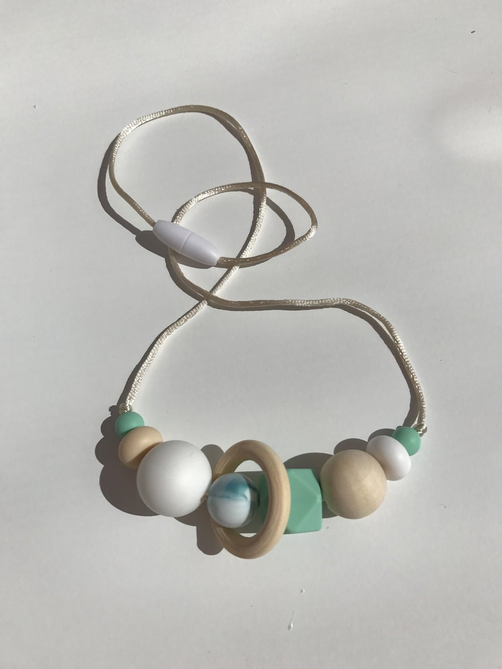 Image of 'Sand & Sea' Sensory Silicone Bead Necklace (BPA free)