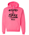 Pinkingz Bowling Hoodie | Motivated to Strike but Hoping to carry! || Cyber Pink Hoodie