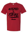 Pinkingz Bowling T-Shirt | Motivated to Strike but Hoping to Carry! || Crimson Red