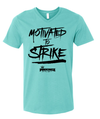 Pinkingz Bowling T-Shirt | Motivated to Strike but Hoping to Carry! || Scuba Blue V Neck