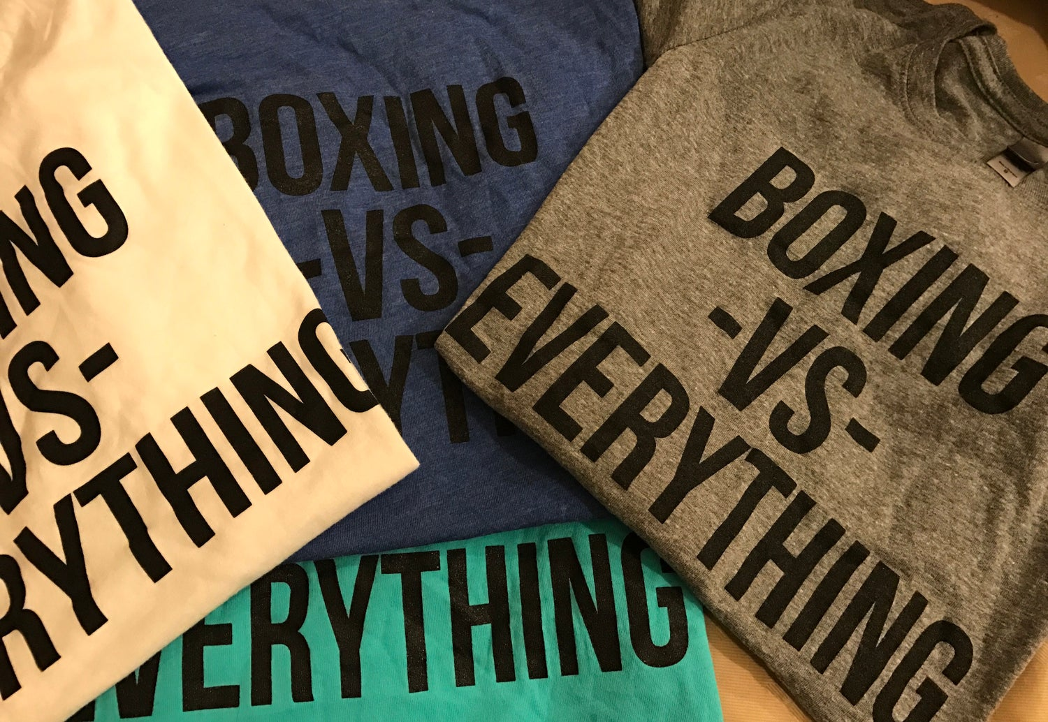 Image of Womens RED Boxing vs Everything Shirts