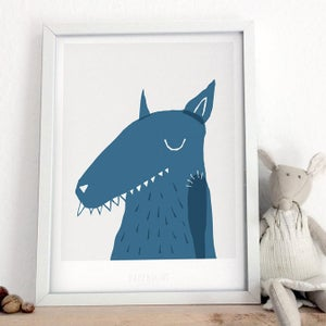 Image of Art Print - Big bad wolf / Affordable Art Prints / Archival Quality / Kids' room decoration
