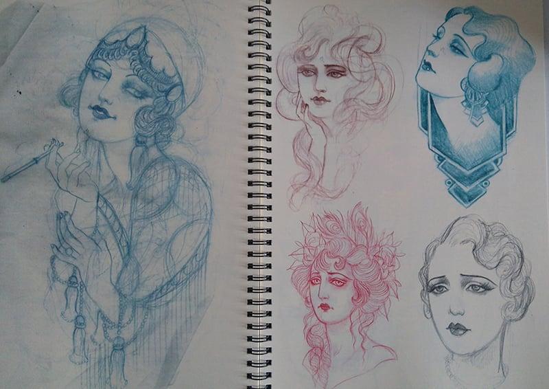 Image of Alix's sketchbook vol.2