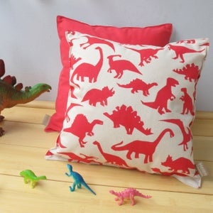 Image of Dinosaur Print Cushion