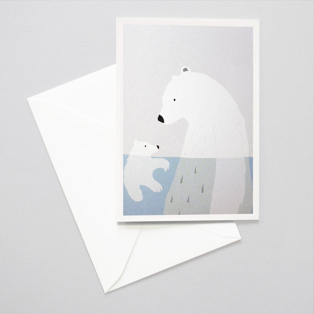Image of Bears card - Bears in a Pool