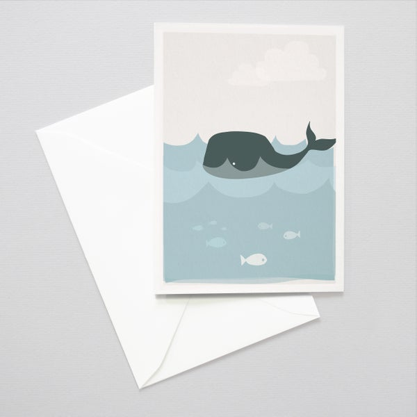 Image of Whale Greeting Card