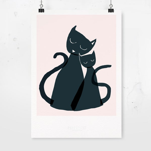 Image of Art Print - Cats / Affordable Art Prints / Archival Quality / Kids' room decoration