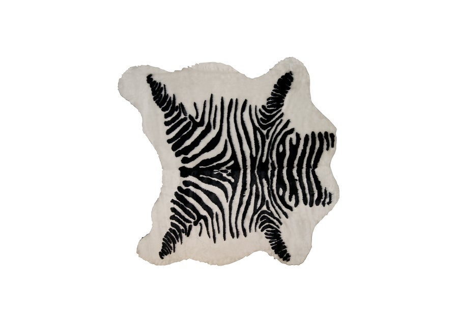 Image of El Paso Denton Zebra Black White Faux Hide