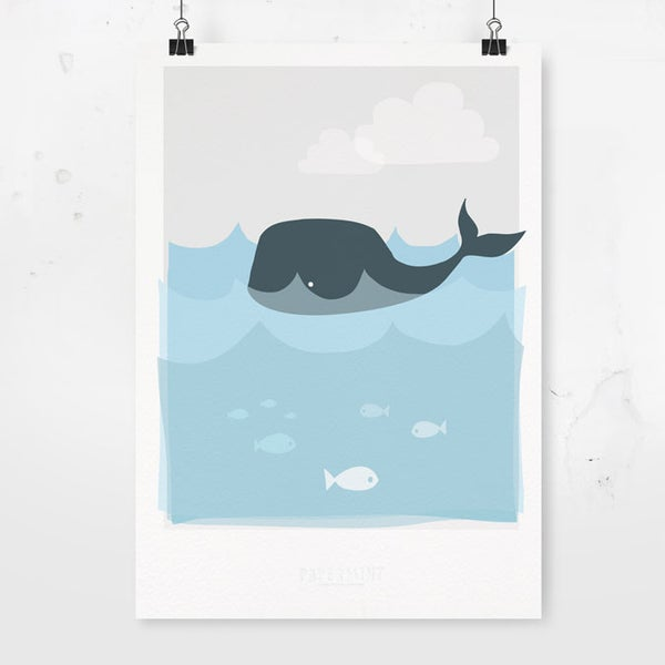 Image of Art Print - Whale / Affordable Art Prints / Archival Quality - Kids' Room / Nursery decoration