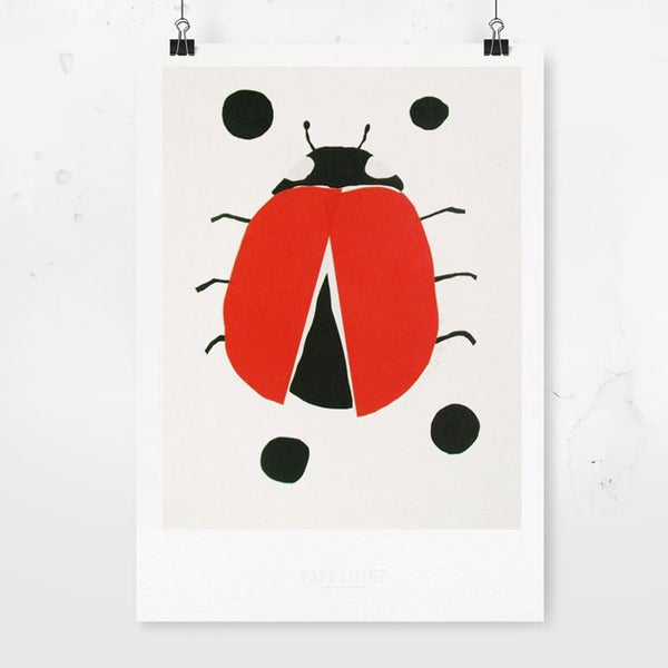 Image of Art Print - Ladybird / Affordable Art Prints / Archival Quality / Kids' room decoration