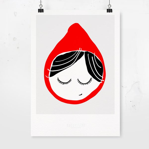 Image of Art Print - Red Riding Hood / Affordable Art Prints / Kids' room decoration