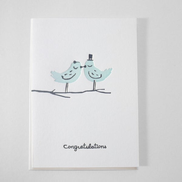 Image of Congratulations Lovebirds - wedding card