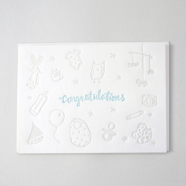 Image of Baby Card - Congratulations it's a boy!