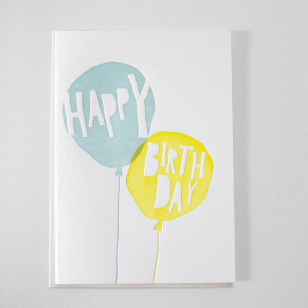 Image of BIRTHDAY BALLOONS -  TURQUOISE / SUN YELLOW