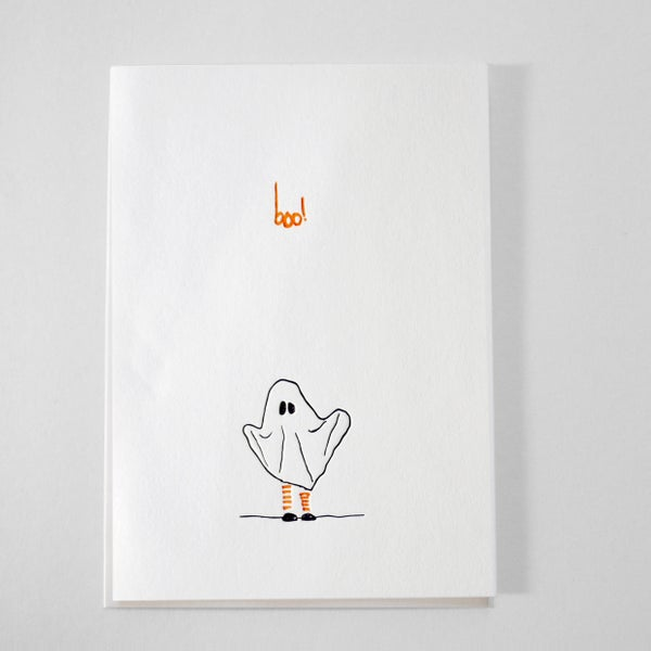 Image of ghostie - letterpress card