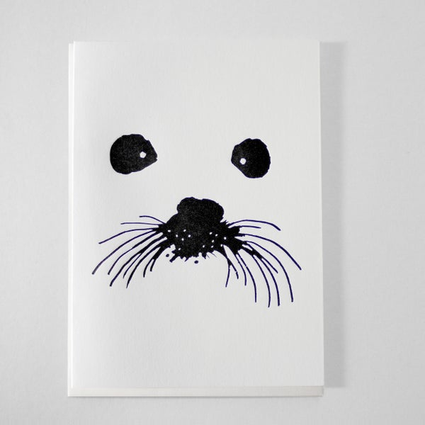 Image of SNOW SEAL - LETTERPRESS CARD