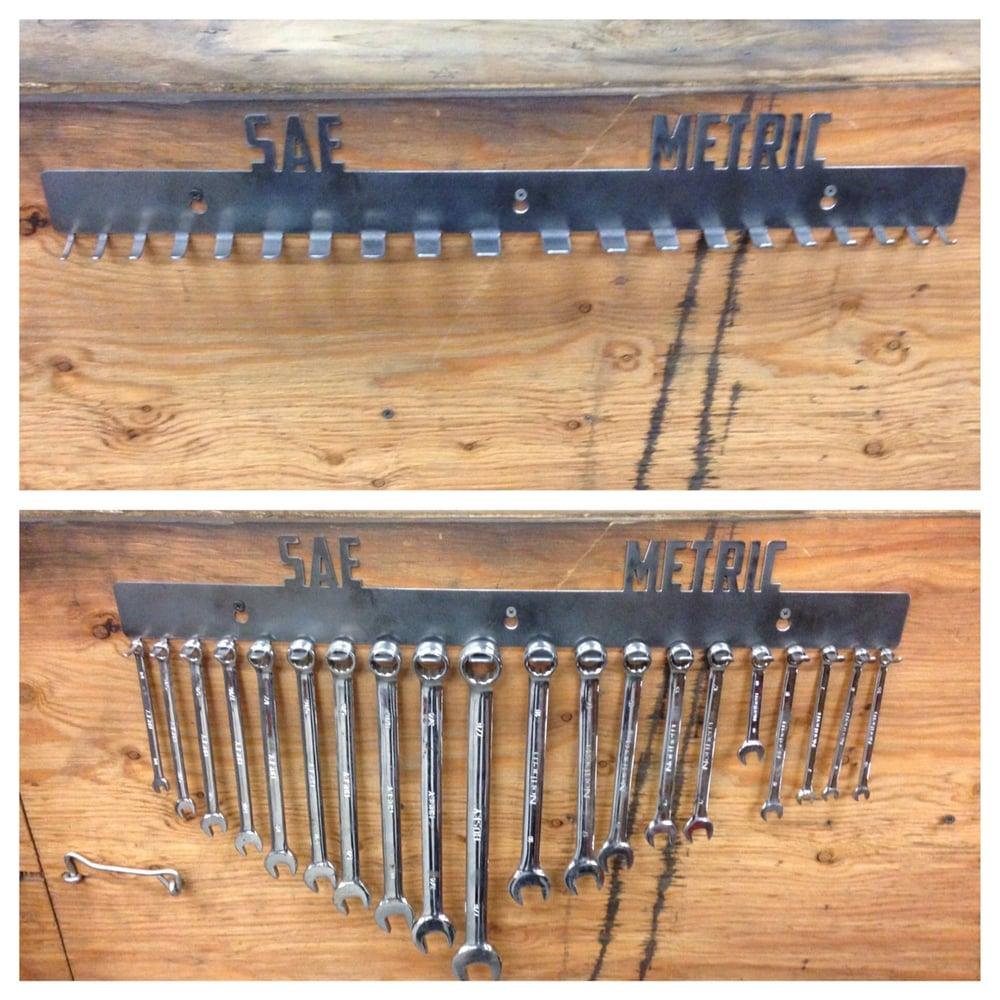 Image of SAE Metric Custom Wrench Holder / Rack