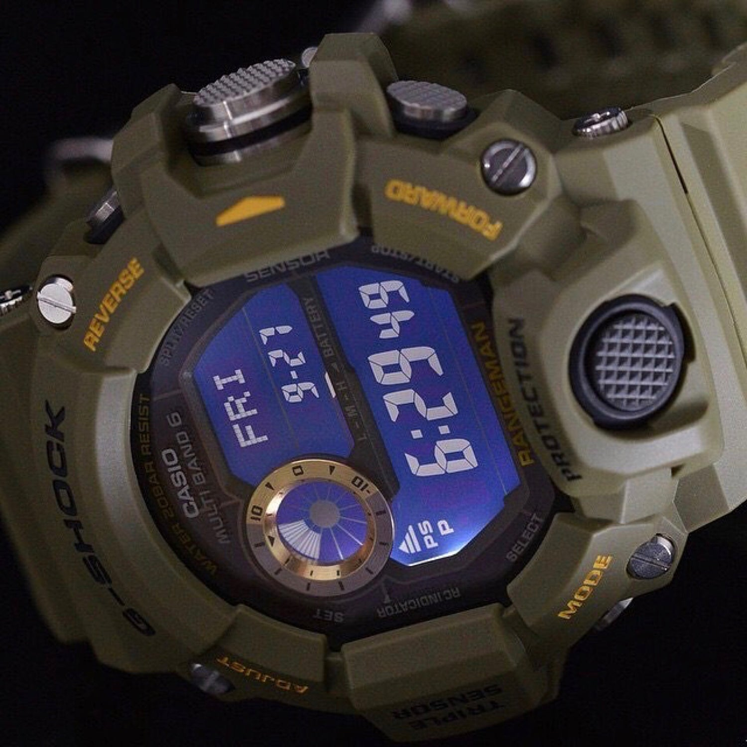 Image of Triple Sensor G-Shock Rangeman - OD Green