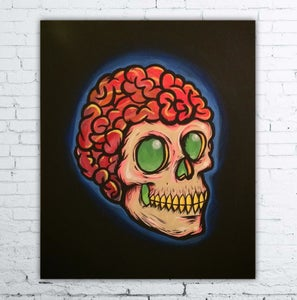 Image of Brain & Skull painting 20 x 24
