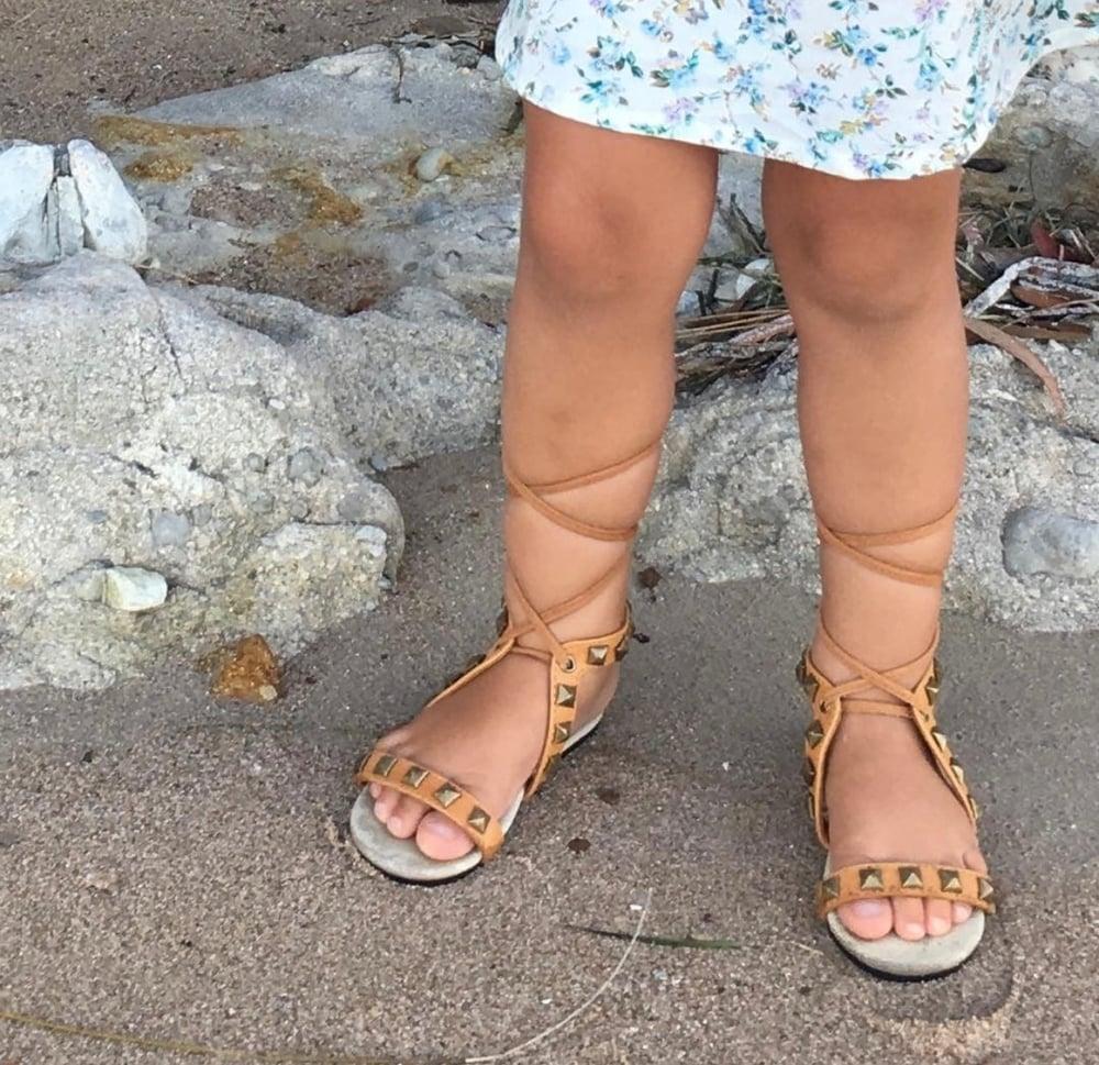 Image of Indiah Leather studded sandal - Cream