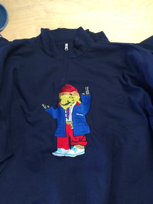 Image of True Wine /thugged out Polo Bear quarter zip sweater