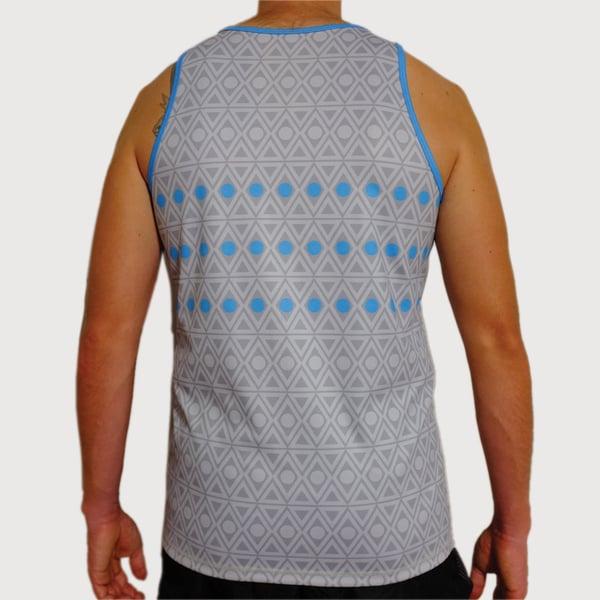 Men's Aztec Active Singlet - mekong