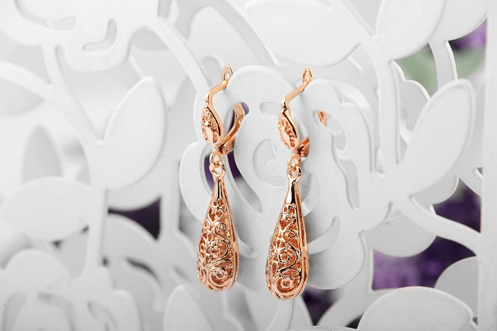 Image of Imported Rose Gold earrings