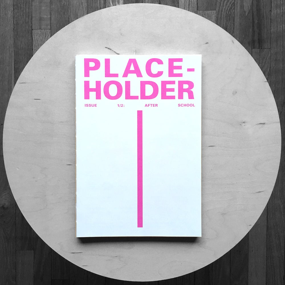 Image of PLACE-HOLDER: After School - Issue 1/2