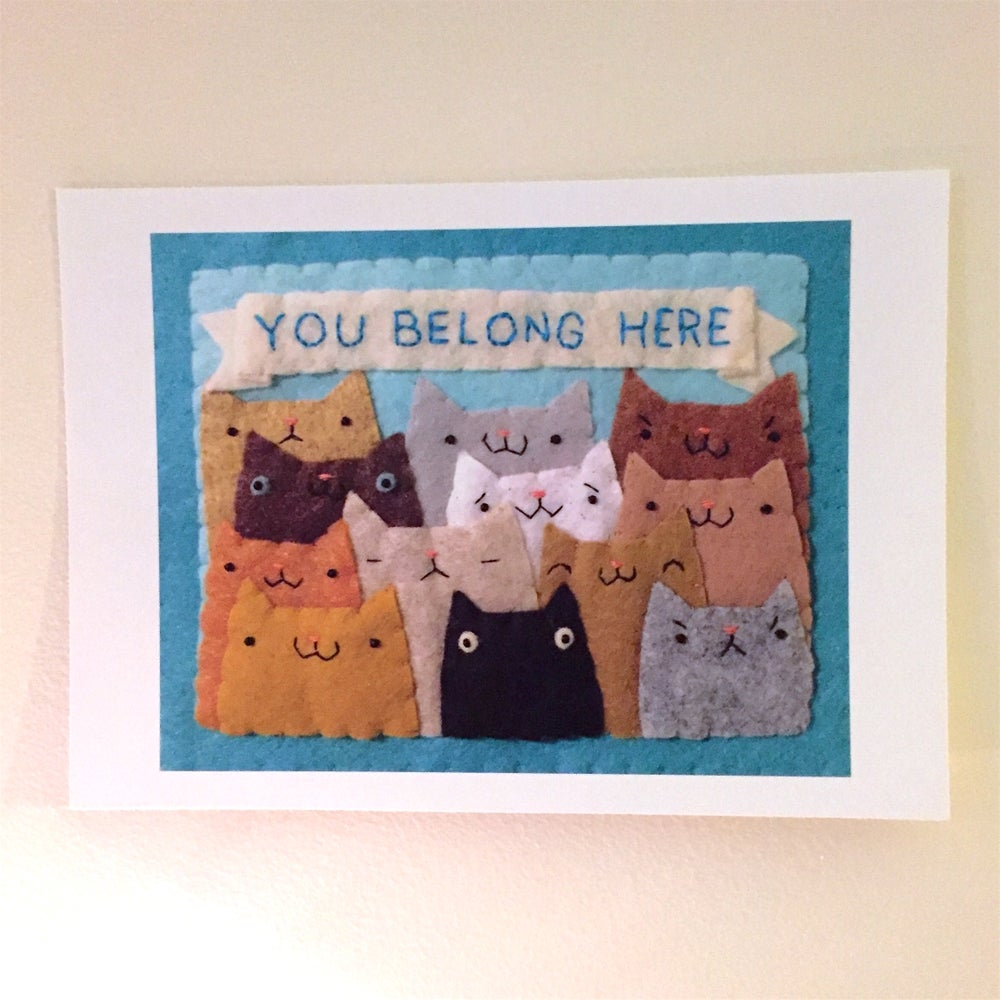 Image of YOU BELONG HERE print