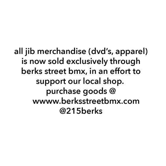Image of ALL JIB MERCHANDISE SOLD EXCLUSIVELY THROUGH BERKS STREET