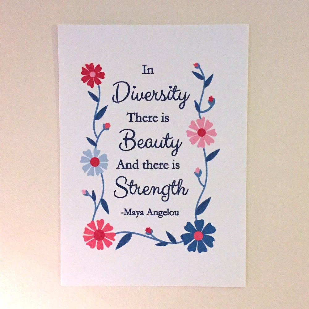 Image of Strength in Diversity print