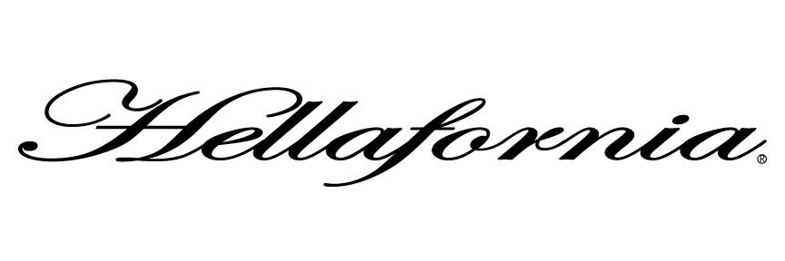 "Image of (8 Color Selection) 12"" Hellafornia Script Decal"