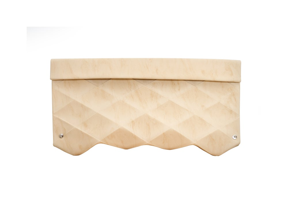 Image of CLUTCH IN ECO LEATHER BEIGE - SIZE L