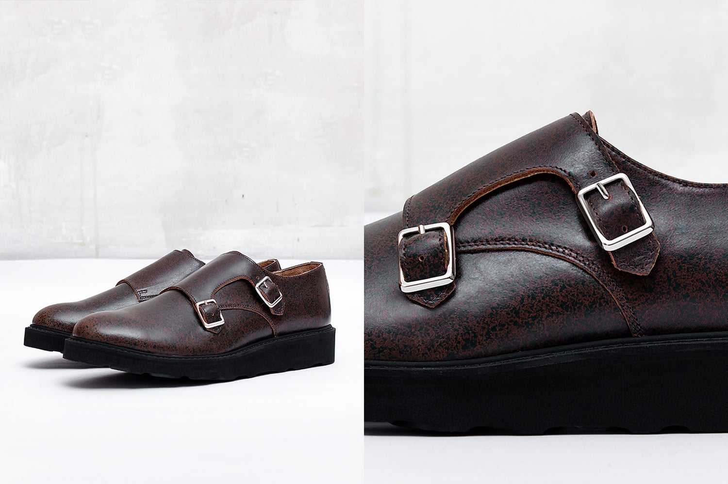 Image of Handmade Shoes | 401 Monk Double Strap Brown Edition