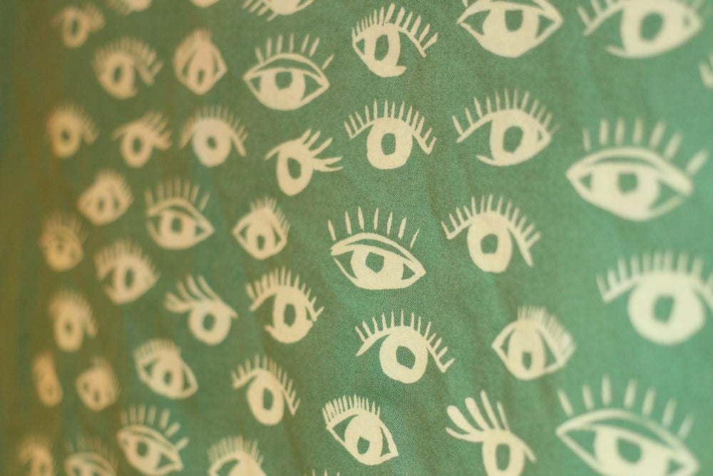 Image of BANDANNA SERIES - EYES (green or blue)