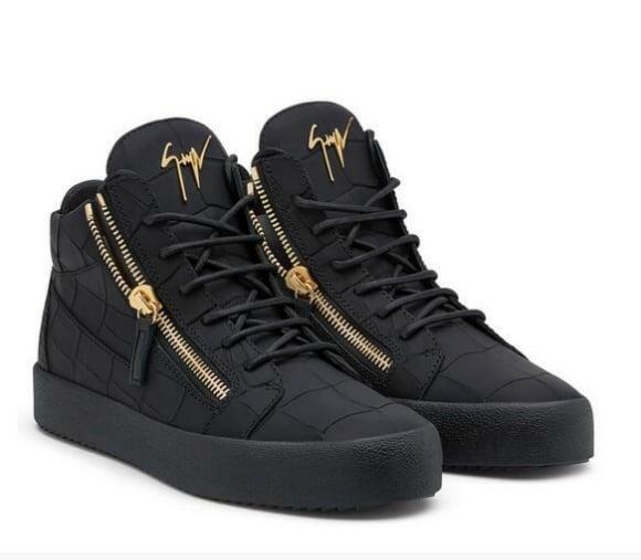 ce1b50d38c4a1 Giuseppe Zanotti Mid Matt Croc Sneakers Black / ABs_Everything