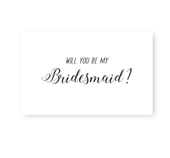 Image of Monochrome bridesmaid proposal cards
