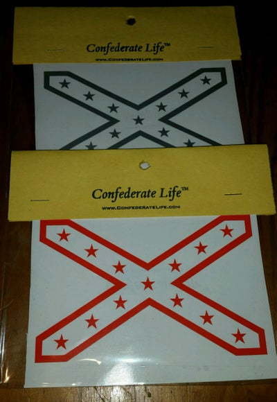 Image of Confederate Flag Decal