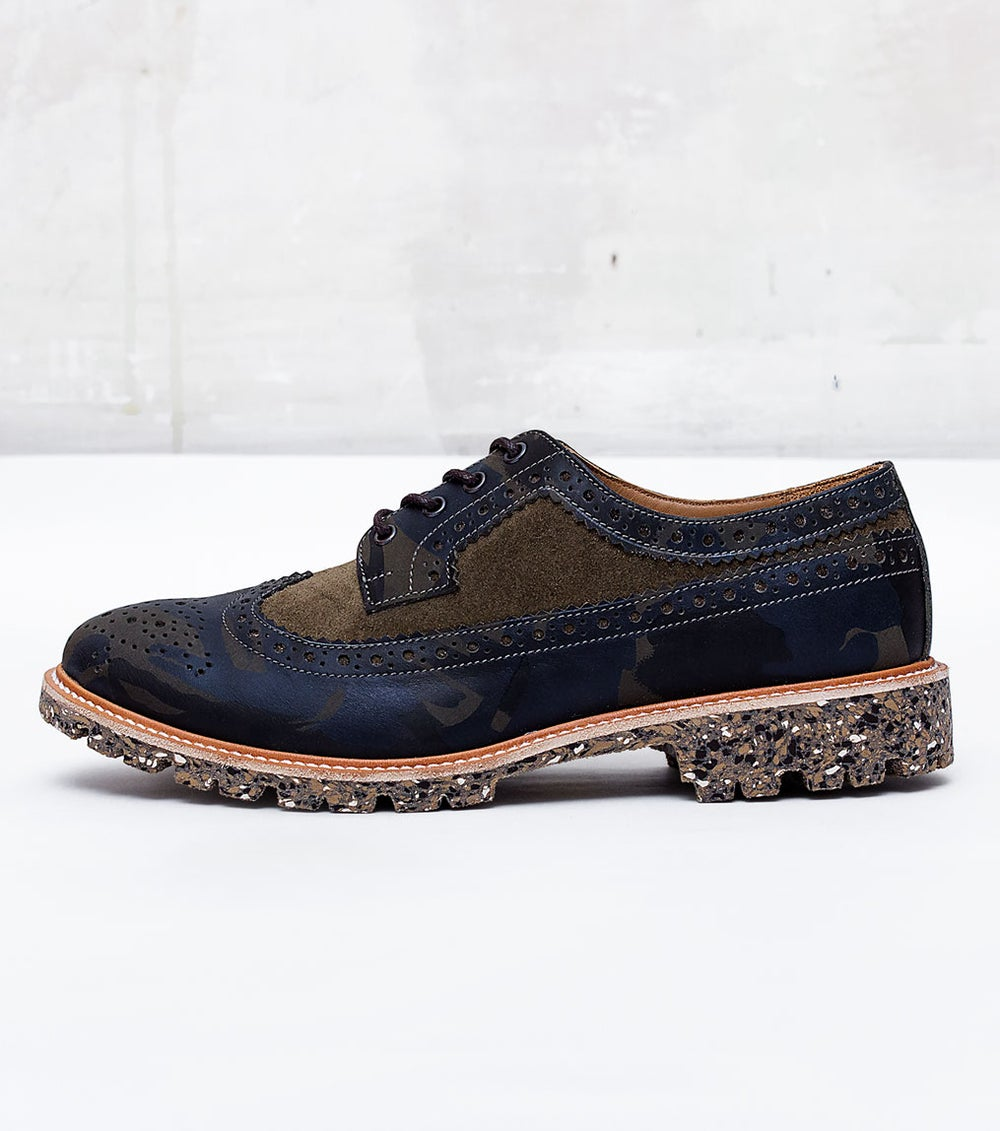Image of Handmade Shoes | 602 Brogue Wingtip Camouflage Edition